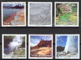 New Zealand Sc# 1155-1160 MNH 1993 Thermal Wonders - New Zealand
