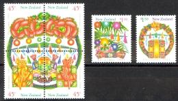 New Zealand Sc# 1167a-1169 SG# 1746/51 MNH 1993 Christmas - New Zealand