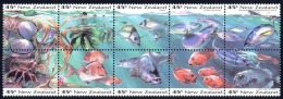 New Zealand Sc# 1179a MNH Booklet Pane/10 1993 45c Fish - Unused Stamps