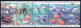 New Zealand Sc# 1179a MNH Booklet Pane/10 1993 45c Fish - New Zealand