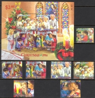 New Zealand Sc# 1237-1243 Incl 1240a MNH 1994 Christmas - Unused Stamps