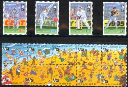 New Zealand Sc# 1244-1248 MNH 1994 Cricket - Unused Stamps