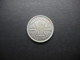 Australia 3 Pence 1949 George VI - Moneda Pre-decimale (1910-1965)