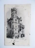CPA 62 - LUXEUIL - Hôtel De Ville, Dos Simple 1901 -cachet TAXE X ? - NO REPRO - France