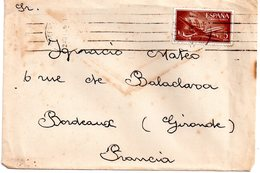 Lettre D'espagne  Pour La    France.   1956 - 1951-60 Briefe U. Dokumente
