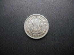 Australia 3 Pence 1959 Elizabeth II - Moneda Pre-decimale (1910-1965)