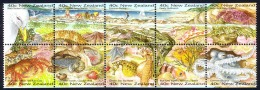 New Zealand Sc# 1344a MNH Booklet Pane/10 1996 Seashore - Unused Stamps