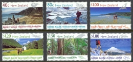 New Zealand Sc# 1602-1607 MNH 1999 Scenic Walks - New Zealand