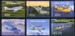 New Zealand Sc# 1714-1719 MNH 2001 Aircraft - New Zealand