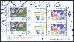 New Zealand Sc# B126a MNH 1986 Children's Drawings - New Zealand
