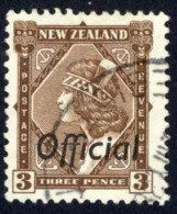 New Zealand Sc# O66 Used 1936-1942 3p Official - Officials