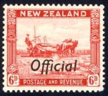New Zealand Sc# O68 MH 1936-1942 6p Official - Officials