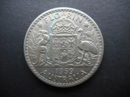 Australia 1 Florin 1959 Elizabeth II - Moneda Pre-decimale (1910-1965)