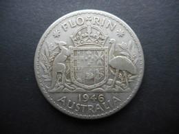 Australia 1 Florin 1946 George VI - Moneda Pre-decimale (1910-1965)