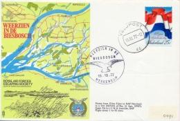 Netherlands 1972 RAF Escaping Society Flown Cover Weerzien In De Biesbosch - 2. Weltkrieg