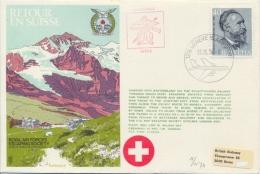 Switzerland 1974 RAF Escaping Society Flown Cover Retour En Suisse - 2. Weltkrieg