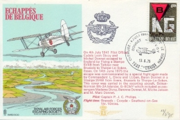 Belgium Belgique 1975 RAF Escaping Society Flown Cover Echappes De Belgique - 2. Weltkrieg