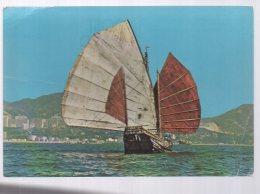 REF 344  : CPSM HONG KONG Chinese Jonk - Chine (Hong Kong)