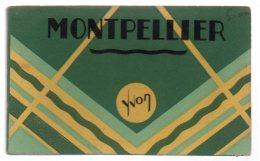 REF 347  : CPA CARNET 18 CP MONTPELLIER Yvon Complet Unis France - Montpellier
