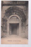 REF 347  : CPA 89 VERMENTON Le Portail De L'Eglise - Vermenton