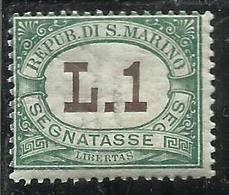 SAN MARINO 1924 SEGNATASSE LIRE1 LIRA MNH - Segnatasse
