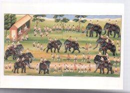 REF 343 :  CPM Birmanie Elephant Combat D'éléphant Musée Guimet Paris 1987 - Myanmar (Burma)
