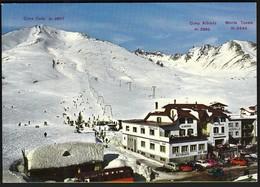 Italy Passo Tonale / Alpine Skiing, Mountains, Hotel Redivalle, Restaurant, Bus, Cars - Wintersport