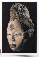 REF 345 :  CPM Gabon Afrique Totem  Masque Africains Punu - Gabon