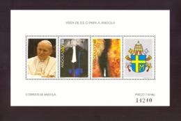 ANGOLA -1992 Visit Of Pope John Paul II ## MNH ## Neuf Minisheet (150 X 90mm) - Angola