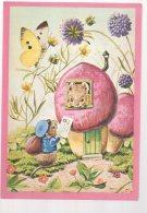 REF 345 :  CPM Souris Papillon Une Lettre Pour Madame Mouse Racey Helps - Dieren