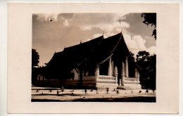 REF 341 :  CPA Ventiane Carte Photo Pagode 1954 - Cambodge