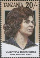 Valentina Vladimirovna Tereshkova, First Soviet Woman Cosmonaut To Fly In The Space, MNH  Tanzania - Space