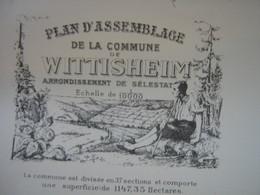 """Plan D""""assemblage De La Commune De Wittisheim , Environ 1900 Ou Avant - Planches & Plans Techniques"""