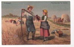 REF 341 :  CPA La Moisson Récompense Du Travail Emtesegen Faucheur - Agricoltura