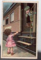 REF 339 :  CPA Fantaisie Bertiglia Enfants Train Gare - Bertiglia, A.