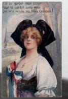 REF 339 :  CPA Patriotique Alsace Lorraine J'ai Su Garder Mon Coeur - Patriotic