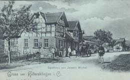 Gruss Aus Hiltersklingen I. O. (Mossautal Village?) Hesse Germany, Johan Michel's Gasthaus, C1890s/1900 Vintage Postcard - Allemagne