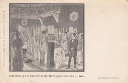 Austro-Hungarian Empress Elizabeth Funeral 1898 Stabbed By Anarchist Assassin, C1890s Vintage Postcard - Familias Reales