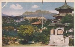 Seoul Korea, Keijo Korea Colony Of Japan Era, Temple Of Heaven, Postal Use To Harbin China C1900s/10s Vintage Postcard - Corée Du Sud