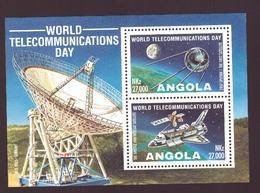 ANGOLA -1995 World Telecommunications Day # MNH # Minisheet (100 X 70mm) - Angola