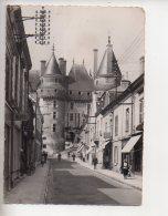 REF 310  :  CPSM LANGEAIS Rue Gambetta Timbre Taxe - Autres Communes