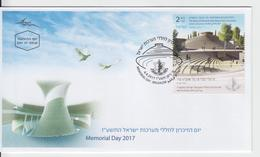 ISRAEL 2017 MEMORIAL DAY THE NATIONAL HALL MOUNT HERZL JERUSALEM FDC - FDC