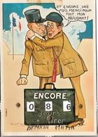 Humour - Militaire - ET ENCORE UNE FOIS MERCI POUR TOUT MON ADJUDANT ! . Cpm - écrite - - Humour