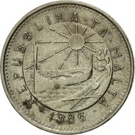 Monnaie, Malte, 5 Cents, 1986, British Royal Mint, TTB, Copper-nickel, KM:77 - Malta