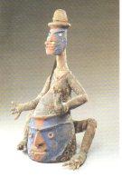 REF 348  :  CPM Art Africain Malakula Sud Masque Coiffure Nevimbumbao - Arts