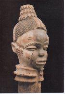 REF 348  :  CPM Art Africain Kuyu Congo Tête - Arts