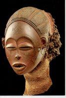 REF 348  :  CPM ANGOLA Masque Féminin Pwo Tshokwe - Arts