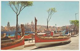 """DGHAJSAS"" WATER TAXIS AT SENGLEA, & VITTORIOSA. POSTED - Malta"