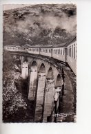 REF 308  :  CPSM CONGO Pont Dans Le Massif Du Mayombe Train - Congo - Brazzaville