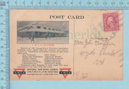 YMCA - Advertising, Publicité , 1917  YMCA Card - Postcard Carte Postale - Militaria